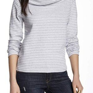 STANDARD JAMES PERSE Stripe Bateau Cowl Neck Top